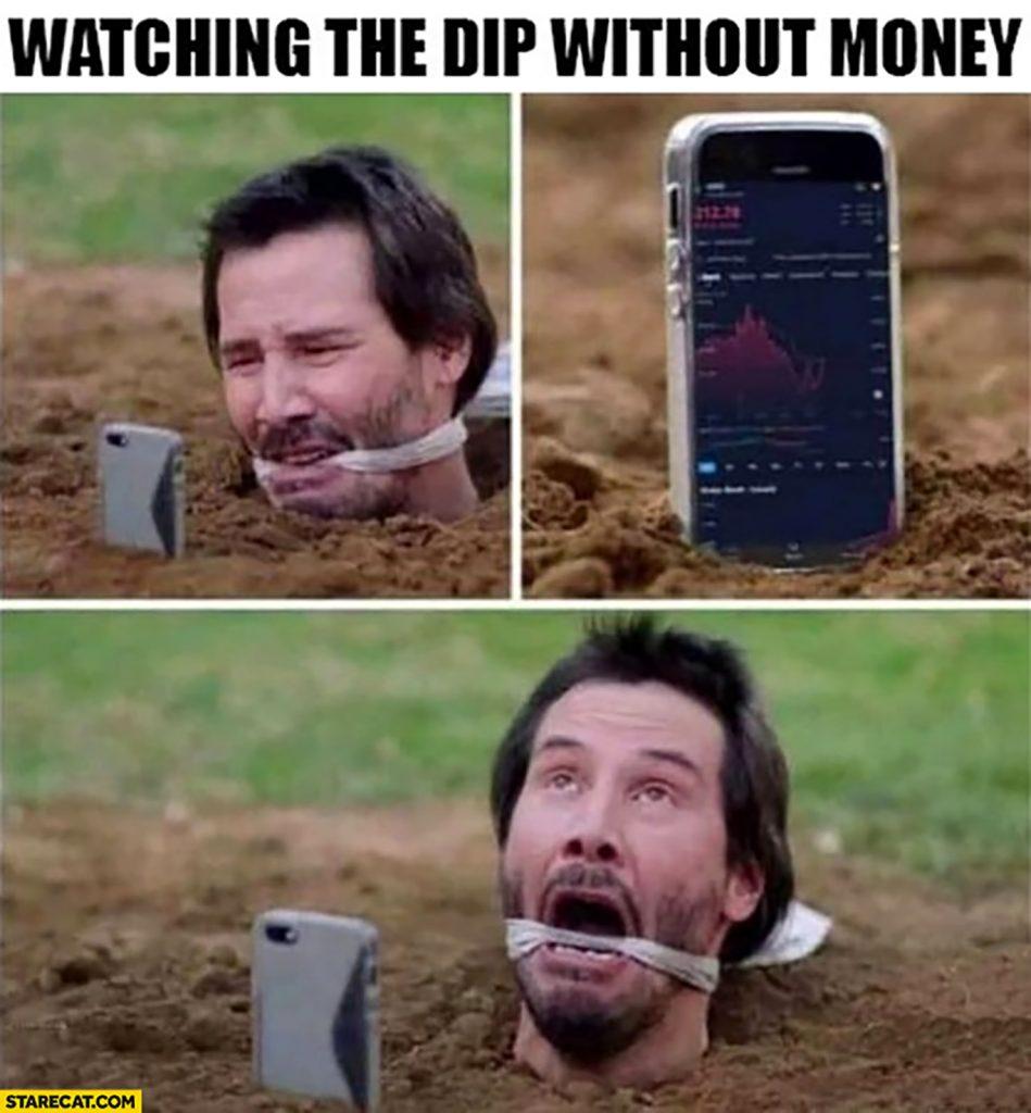 dip investing meme
