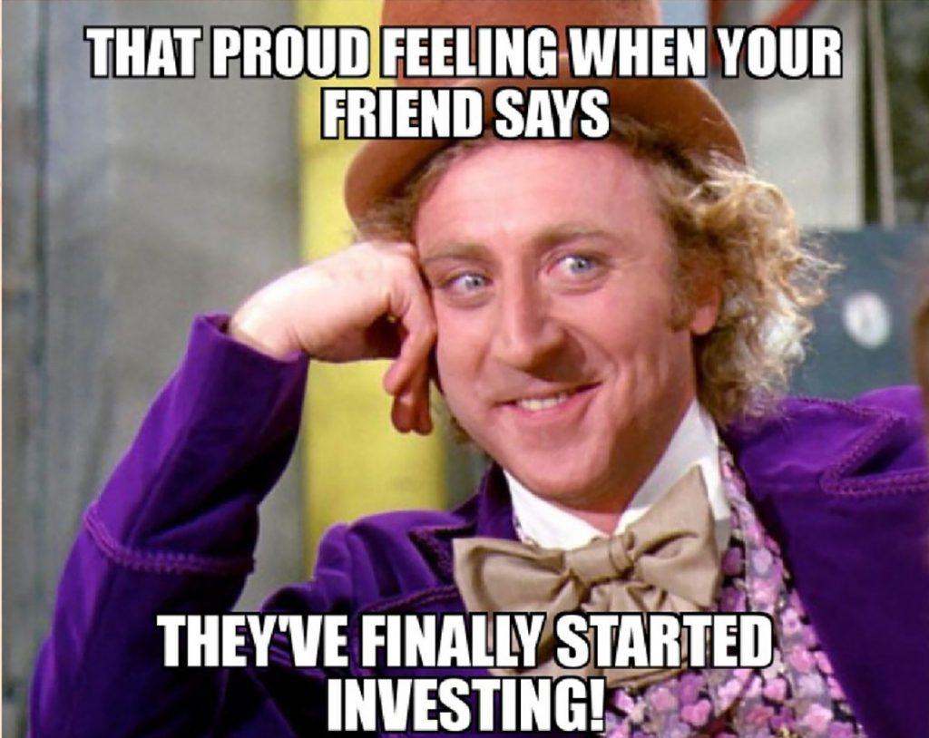 friend investing meme