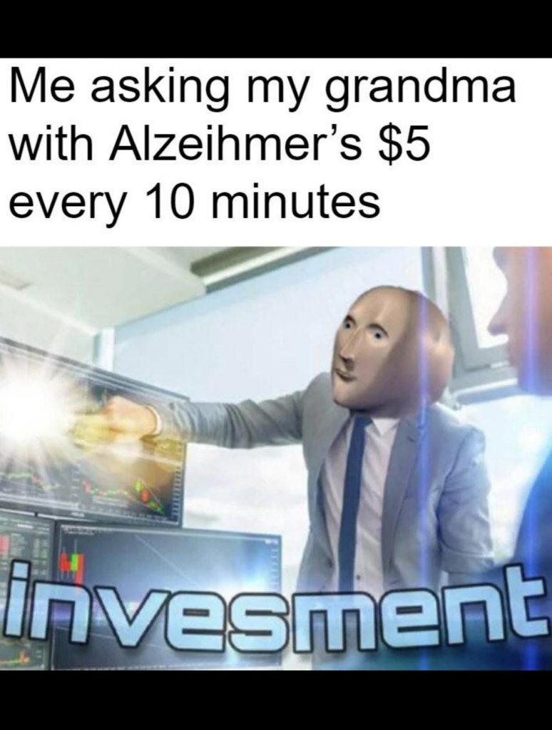 grandma investment meme