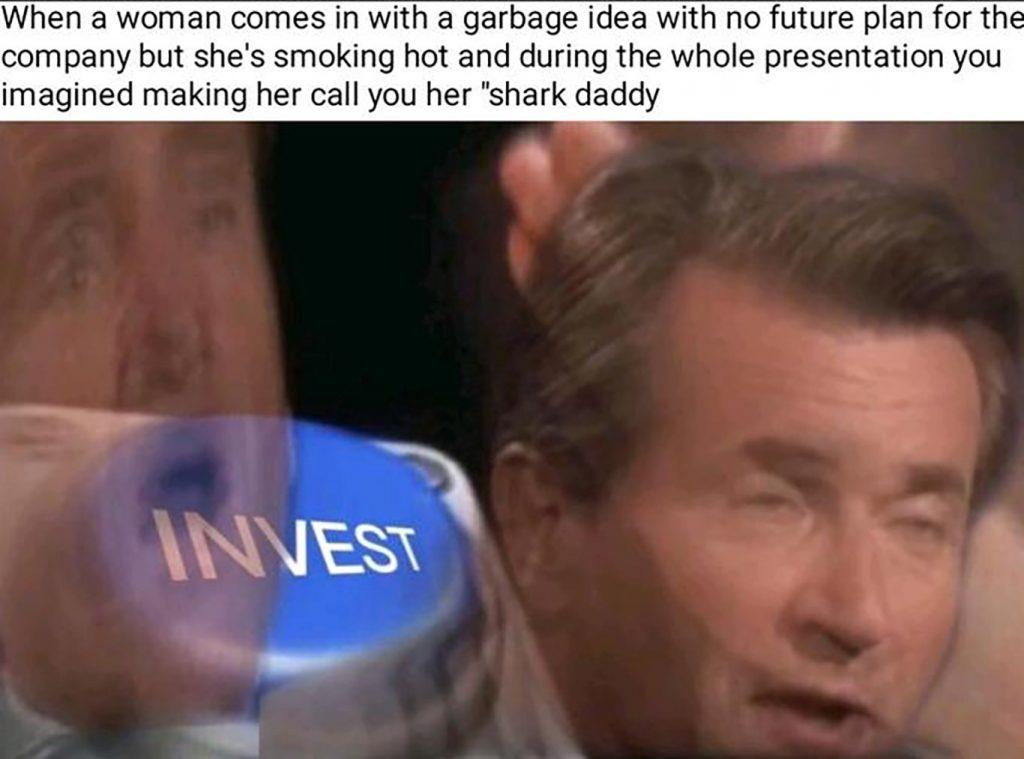 hot female investor meme