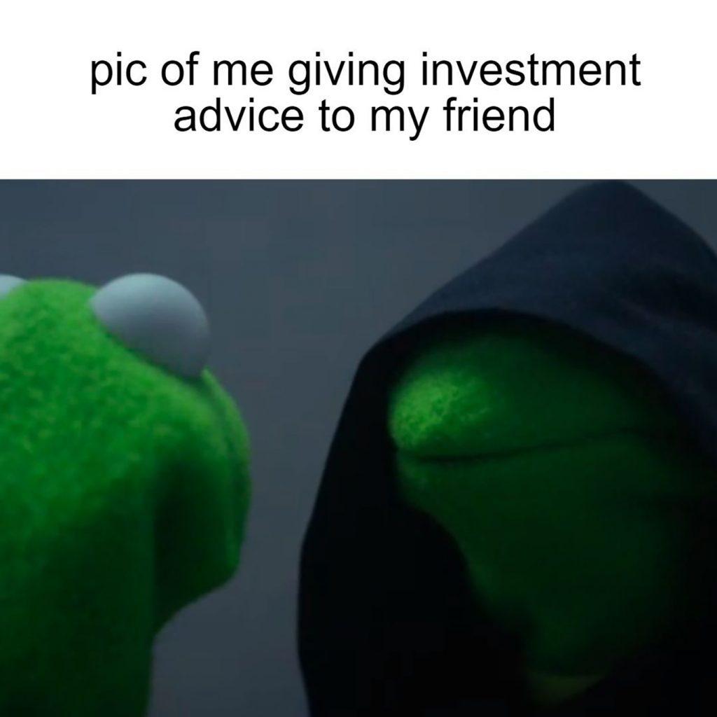 investment advice meme