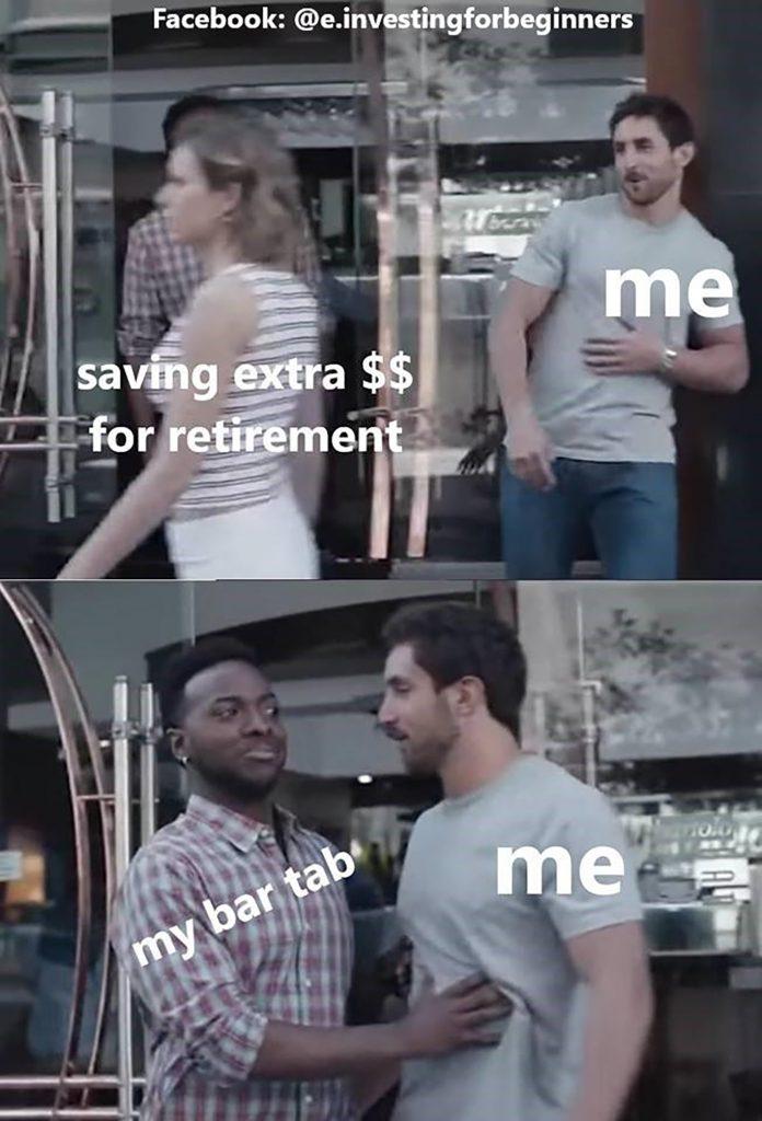 retirement investing meme