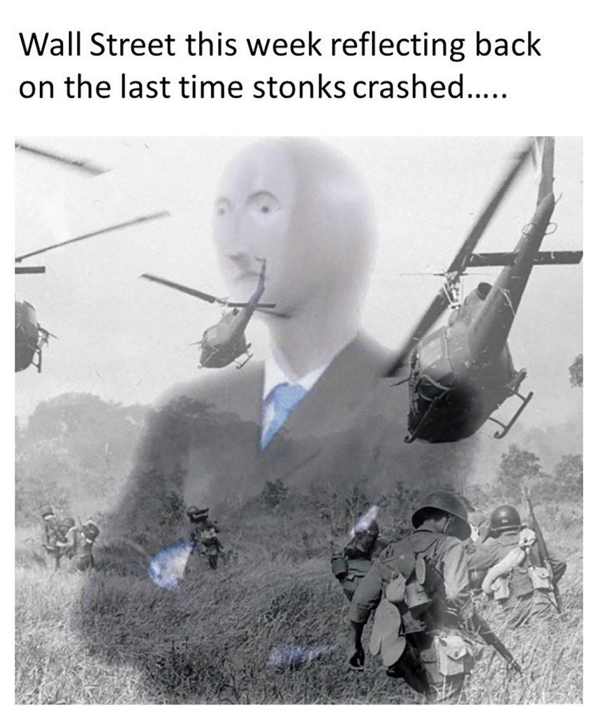 stock crash meme