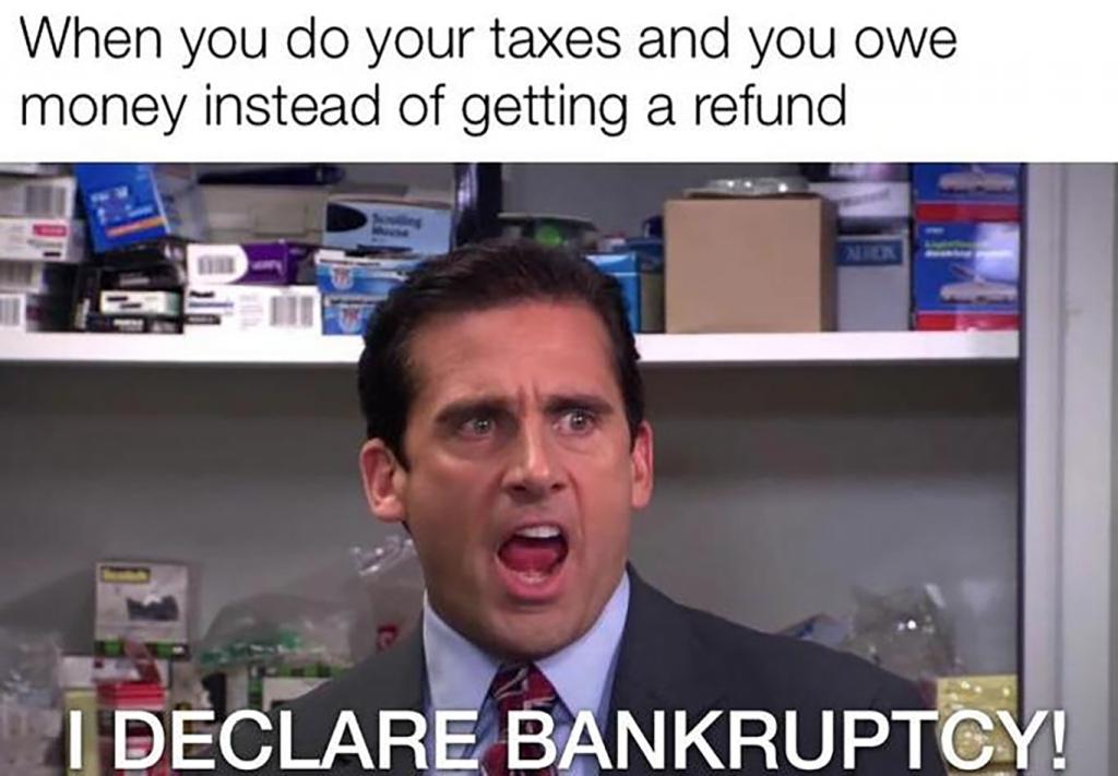 tax bankruptcy meme