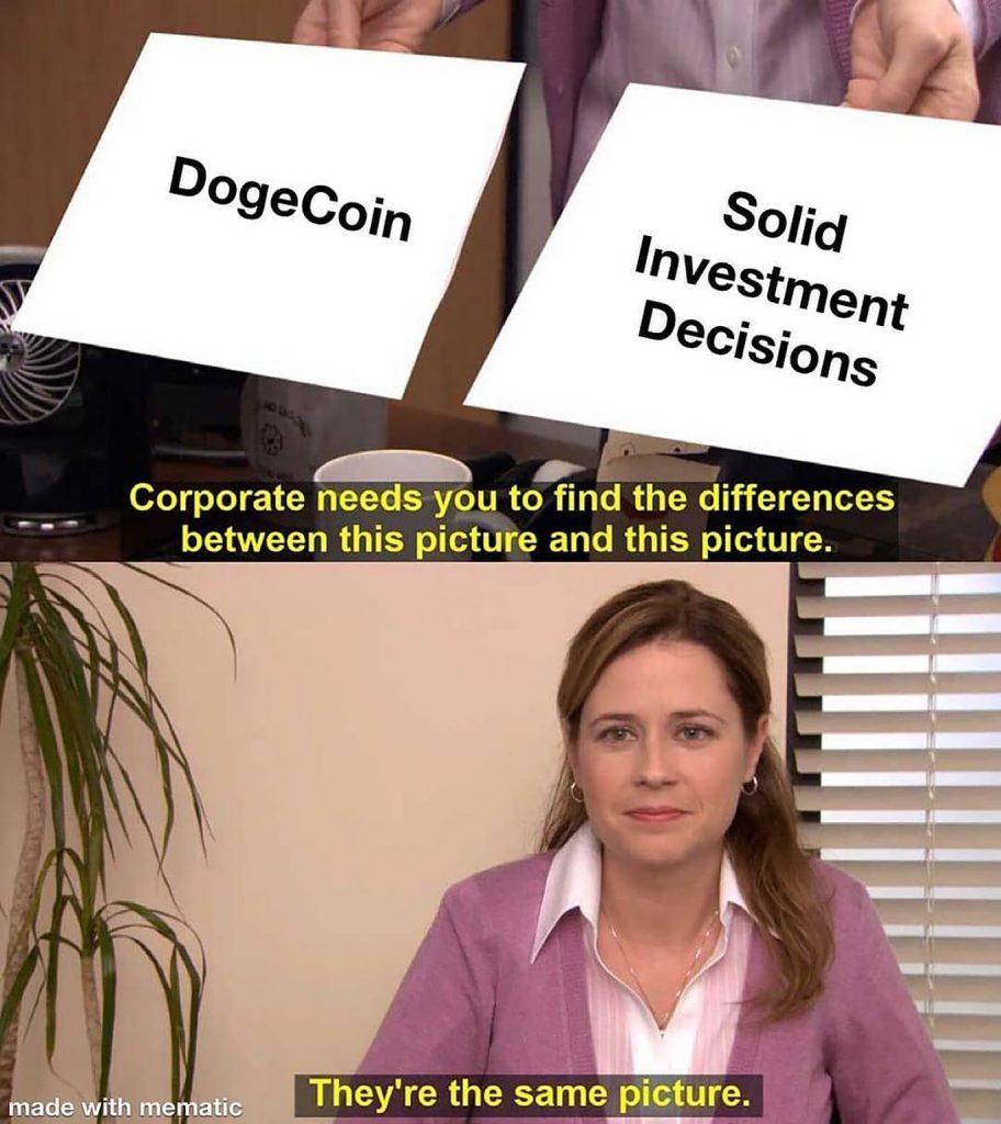 the office dogecoin investing meme