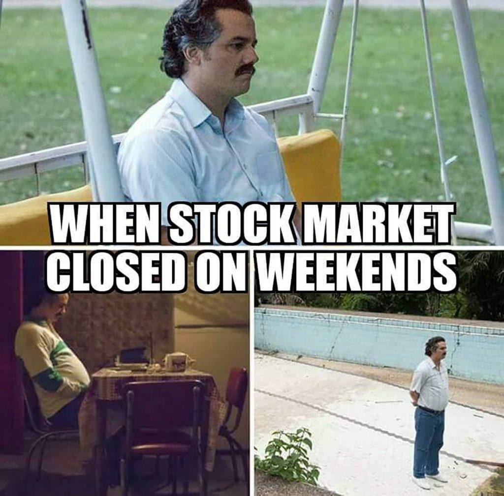 weekend stock market meme